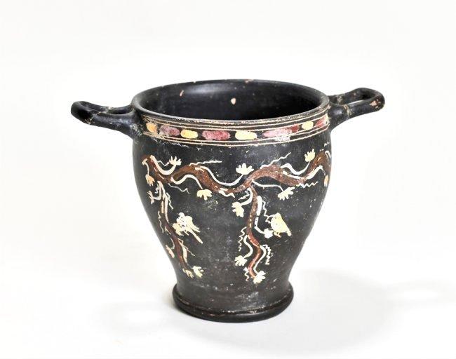 A Greek Magna Graecia Pottery Skyphos
