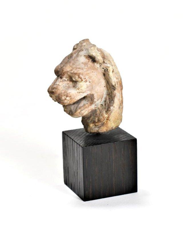 A Mesopotamian Lion Pottery Head