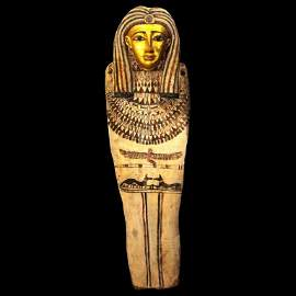 0012: A Published Egyptian Gesso Wood Sarcophagus Lid