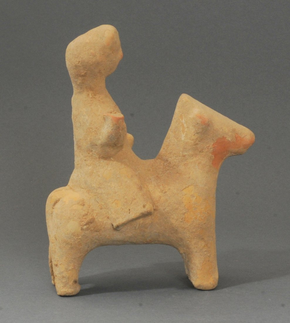 ANCIENT EAST GREEK TERRACOTTA HORSE AND RIDER