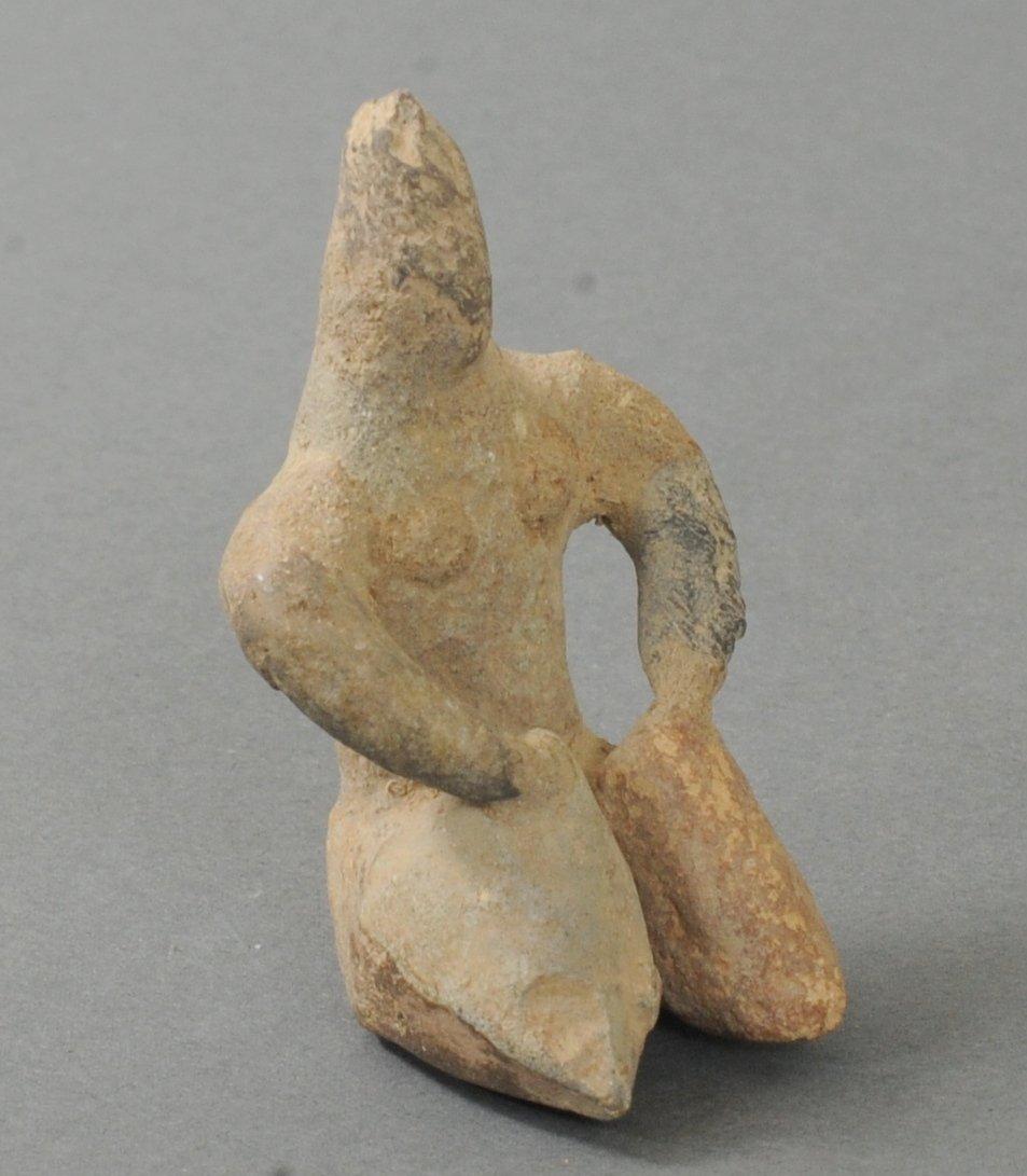 ANCIENT TELL-HALAF SEATED TERRACOTTA IDOL