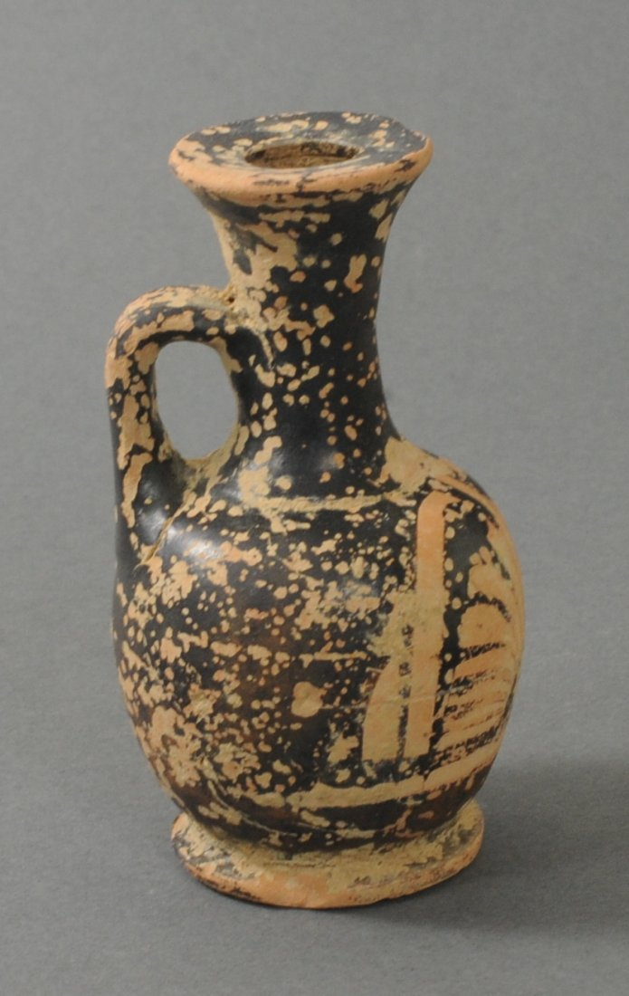 ANCIENT GREEK TERRACOTTA JUG WITH HANDLE