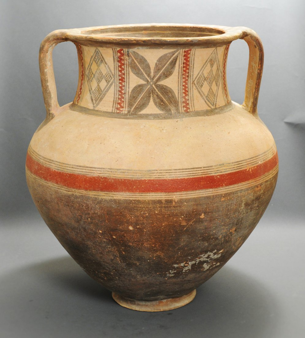 A Large Cypriot Bichrome Pottery Krater
