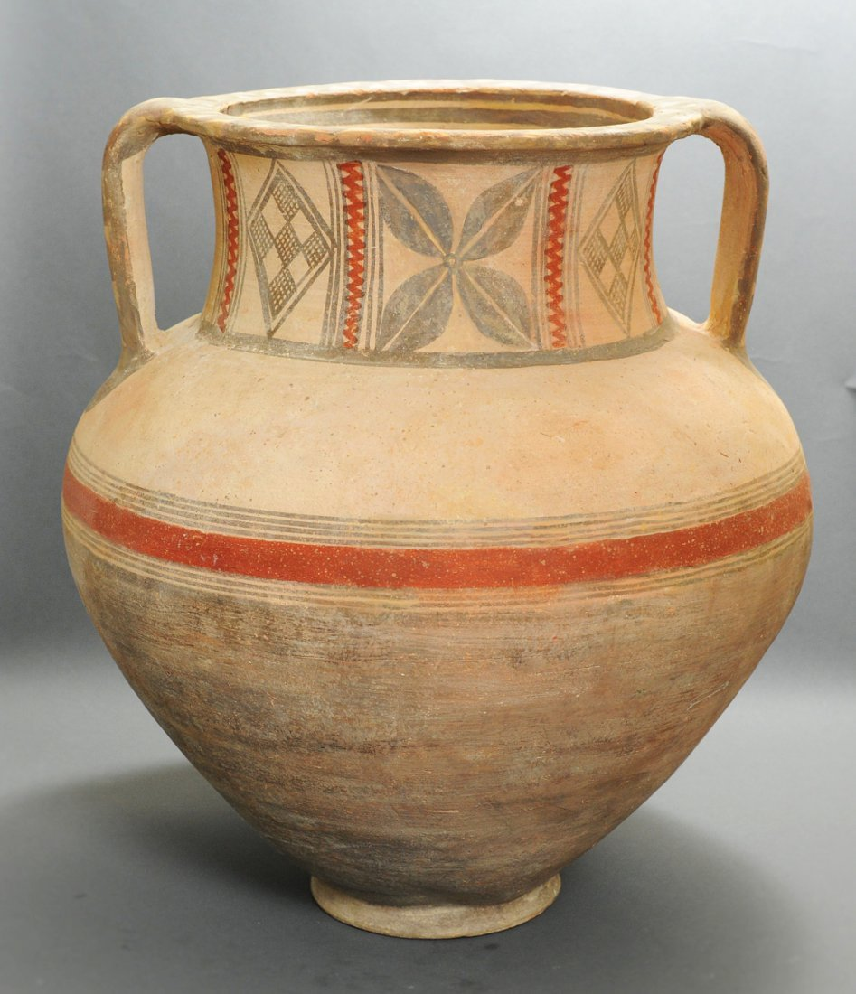 A Large Cypriot Bichrome Pottery Krater - 2
