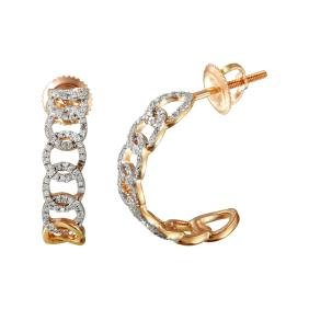 Genuine 0.29 TCW 14K Rose Gold Ladies Earring -