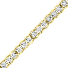 0.5 CTW Natural Diamond Tennis Bracelet 10K Yellow Gold
