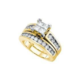 1.50 CTW Natural Diamond Princess Bridal Engagement