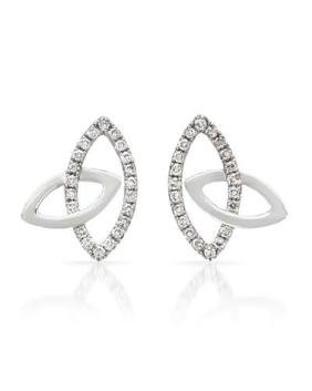 Genuine 0.29 TCW 14K White Gold Ladies Earring -