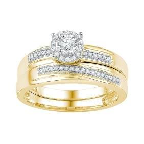 0.25 CTW Natural Diamond Bridal Engagement Ring 10K