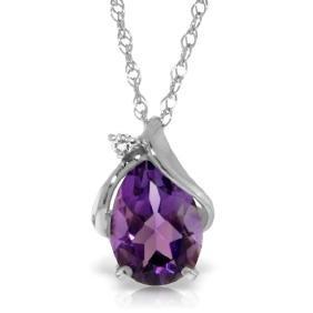 Genuine 1.53 ctw Amethyst & Diamond Necklace Jewelry