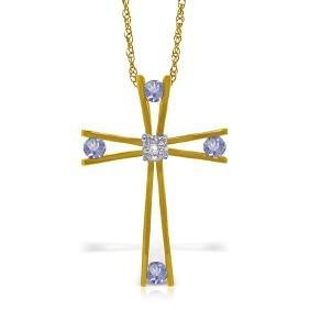 Genuine 0.53 ctw Tanzanite & Diamond Necklace Jewelry