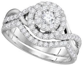0.88 CTW Natural Diamond Bridal Engagement Ring 14K