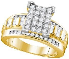 1 CTW Natural Diamond Cinderella Cluster Bridal