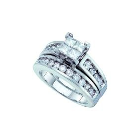 1.50 CTW Princess Natural Diamond Bridal Engagement