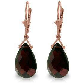 Genuine 10.20 ctw Garnet Earrings Jewelry 14KT Rose