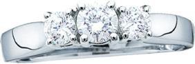 0.54 CTW Natural Diamond 3-stone Bridal Engagement Ring