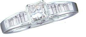 0.5 CTW Princess Natural Diamond Solitaire Bridal