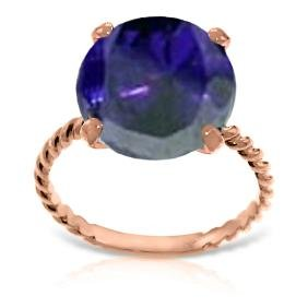 Genuine 9.8 ctw Sapphire Ring Jewelry 14KT Rose Gold -