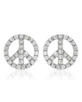 14K Gold 0.95 CTW Diamond Earring - REF-78Y5X