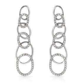 Genuine 0.71 TCW 14K White Gold Ladies Earring -