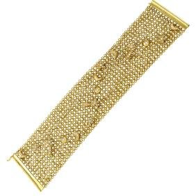 Genuine 1.48 TCW 14K Yellow Gold Ladies Bracelet -