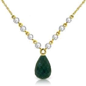 Genuine 15.6 ctw Green Sapphire Corundum & Diamond