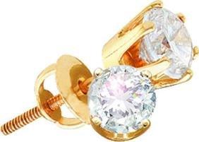 0.51 CTW Natural Diamond Solitaire Stud Earrings 14K