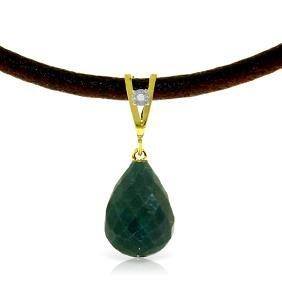 Genuine 15.51 ctw Green Sapphire Corundum & Diamond