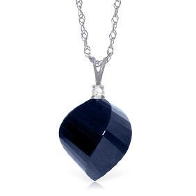 Genuine 15.3 ctw Sapphire & Diamond Necklace Jewelry