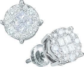 0.25 CTW Princess Natural Diamond Soleil Stud Screwback