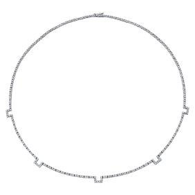 18K Gold 2.87 CTW Diamond Necklace - REF-237W7H