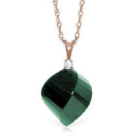 Genuine 15.3 ctw Green Sapphire Corundum & Diamond