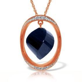 Genuine 15.35 ctw Sapphire & Diamond Necklace Jewelry