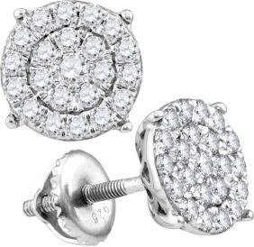 0.71 CTW Natural Diamond Cindy's Dream Cluster Earrings