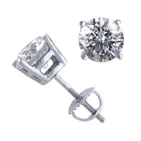 14K White Gold Jewelry 2.02 ctw Natural Diamond Stud