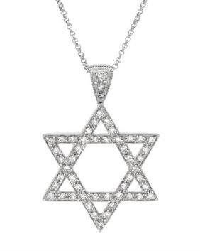 14K White Gold 0.49CTW Diamond Necklace - REF-57X9Y