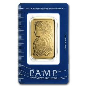 Genuine 1 Oz 0.9999 Fine Gold Bar - PAMP Suisse Lady