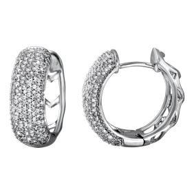 Genuine 1.05 TCW 14K White Gold Ladies Earring -