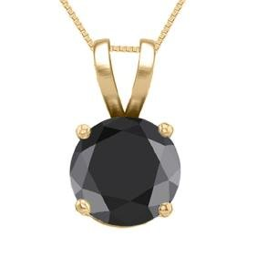 14K Yellow Gold Jewelry 0.52 Ct Black Diamond Solitaire