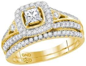 0.98 CTW Natural Diamond Bridal Engagement Ring 14K
