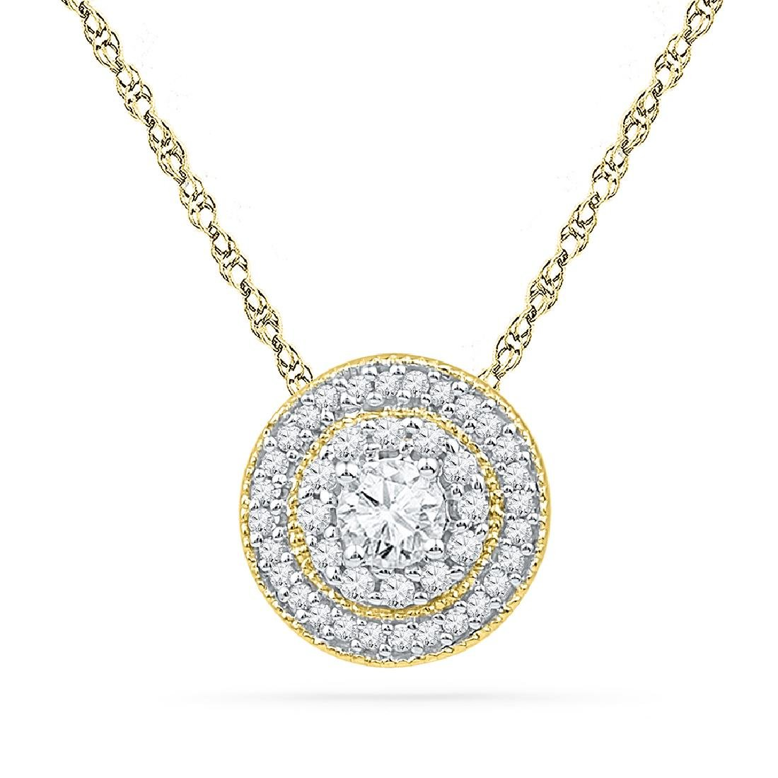 0.5 CTW Natural Diamond Solitaire Pendant 10K Yellow