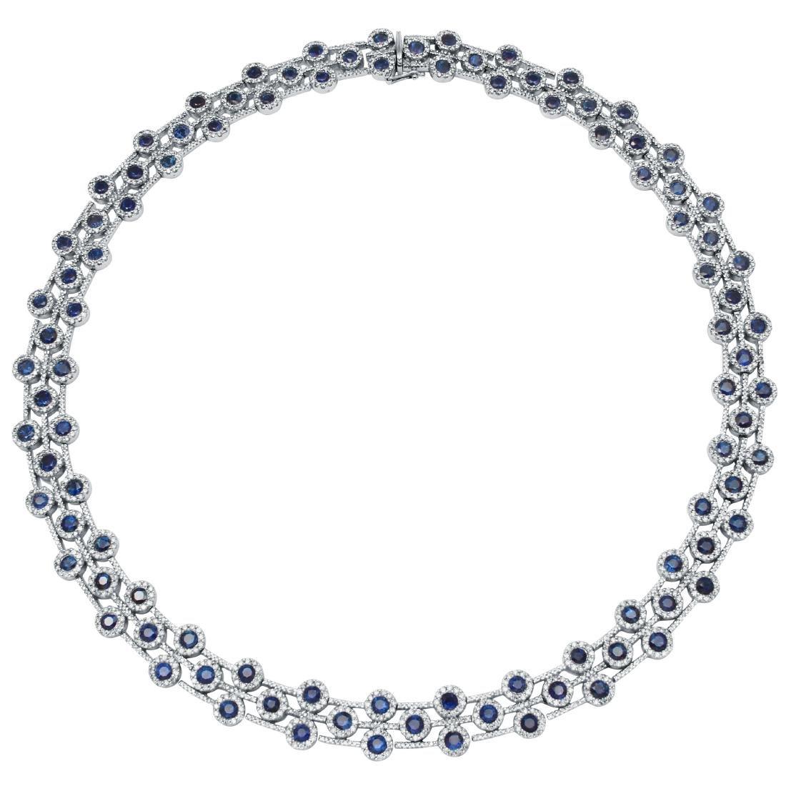 26.09 CTW 14K White Gold Ladies Necklace - REF-1171Y7X