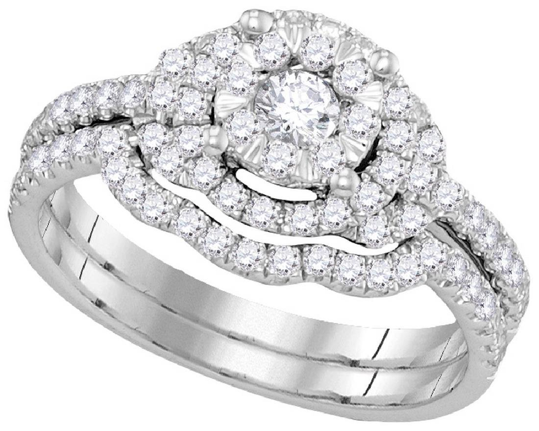 0.63 CTW Natural Diamond Bridal Engagement Ring 14K