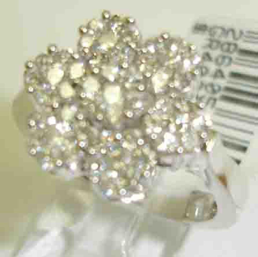 18K White Gold 1.05CTW Diamond Diamond Rings -
