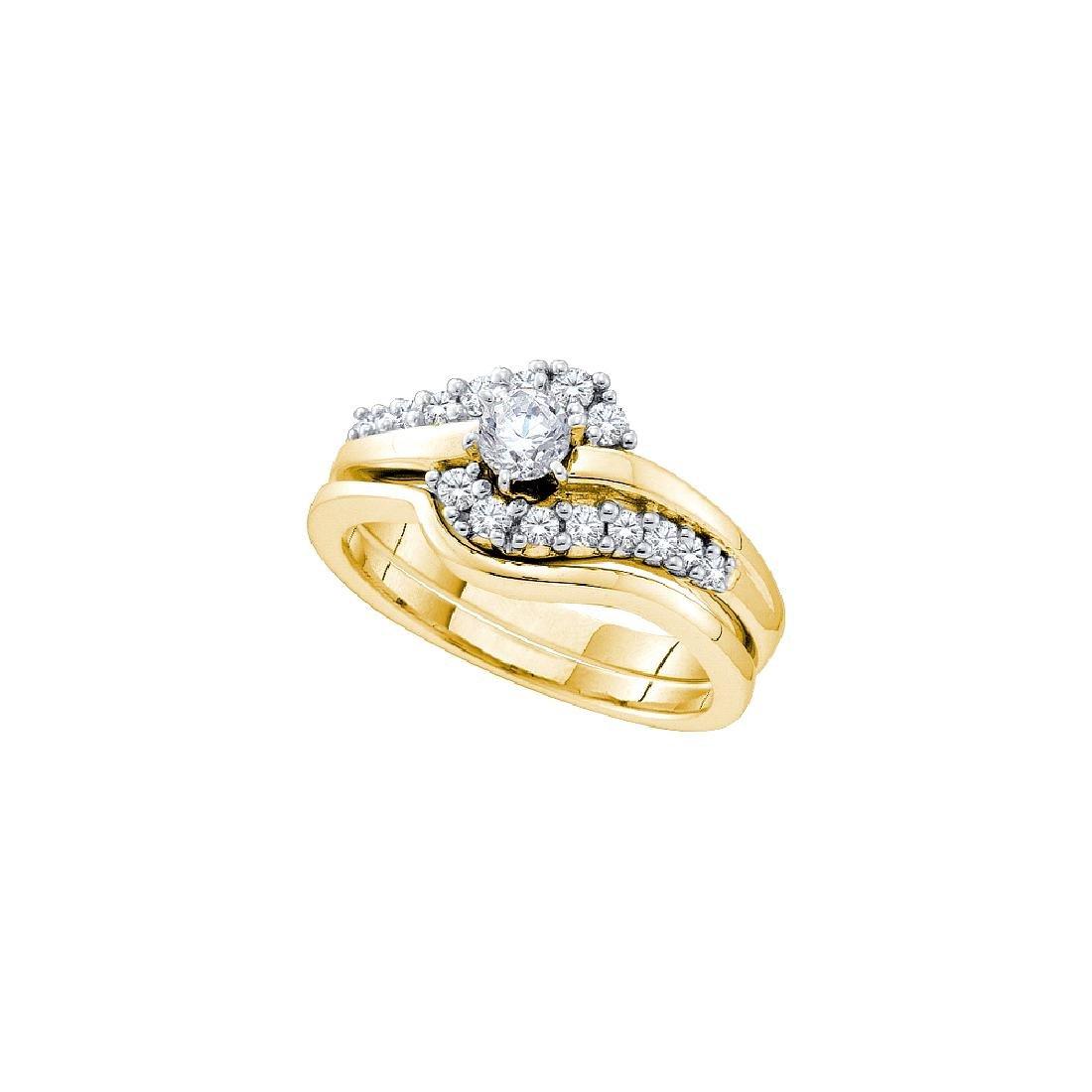 0.5 CTW Natural Diamond .20 Carat Solitaire Bridal Ring