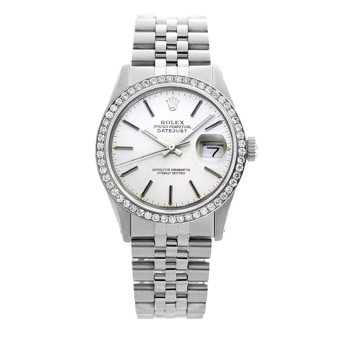 Rolex Ladies Stainless Steel Diamond Bezel Pre-owned