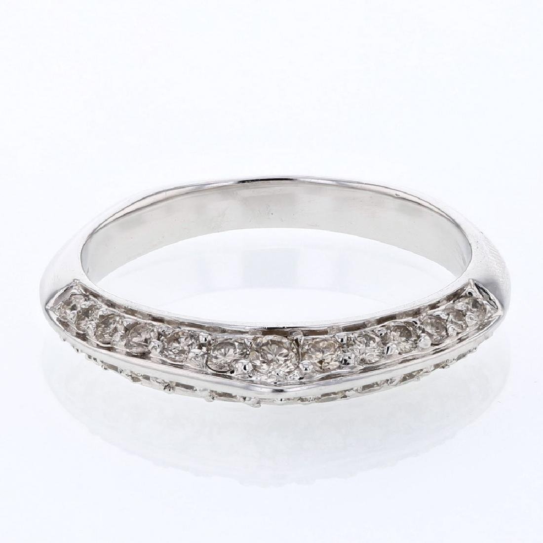 2-row Diamond Band in 14K White Gold - REF-46N7A
