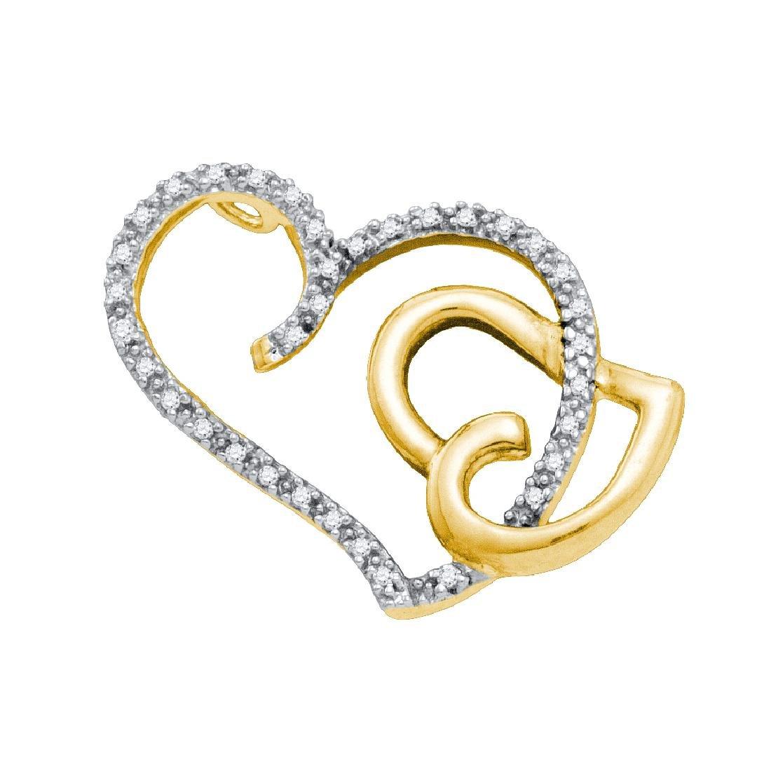 0.16 CTW Natural Diamond Heart Love Pendant 14K