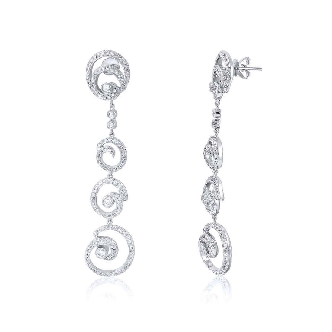 14K Gold 2.13 CTW Diamond Earring - REF-261R8K