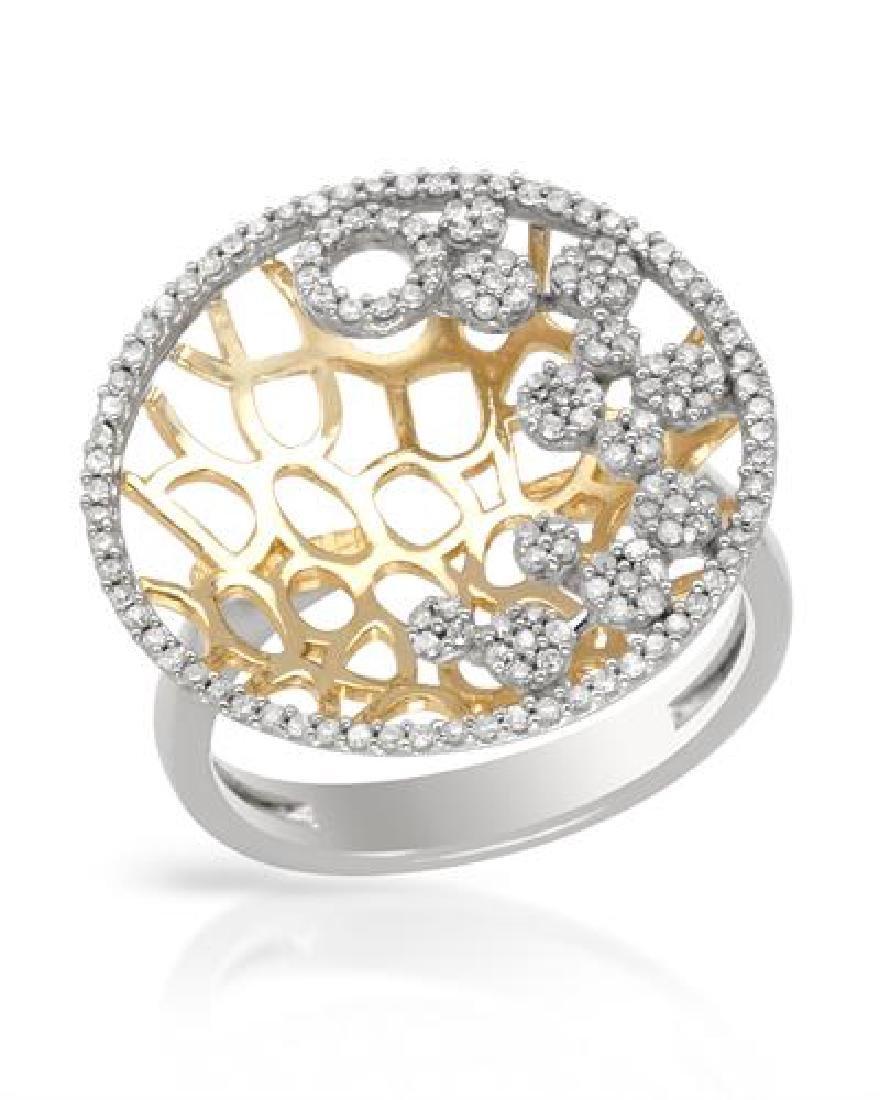 14K Two Tone Gold 0.52CTW Diamond Rings - REF-68M9F